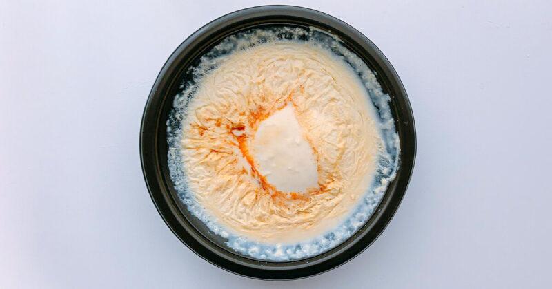 豆乳たっぷりスンドゥブのレンチン後